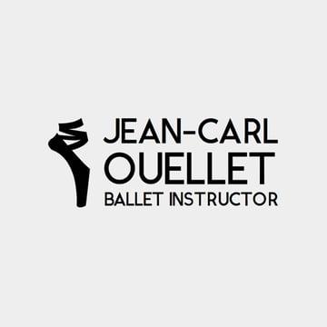 Logo Maker for Ballet Studios with Ballet Shoe Clipart