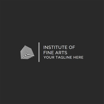 Logo Template for Art Schools with 3d Shapes