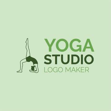 Online Logo Maker for a Yoga Studio Green Theme