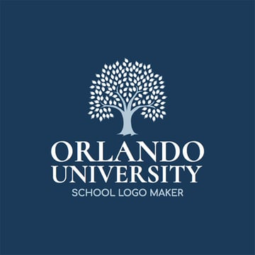 University Logo Maker with Tree Graphic