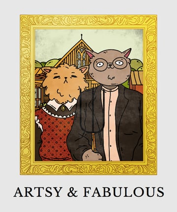 Cats and Dogs T-shirt Design Maker Featuring Famous Paintings