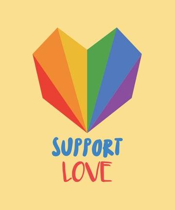 LGBT T-Shirt Design Maker with Rainbow Heart