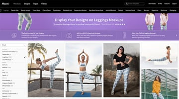 Navigate to Placeits Leggings Mockup Generator Page