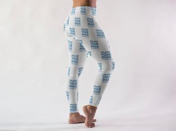 Woman Wearing Long Leggings Mockup
