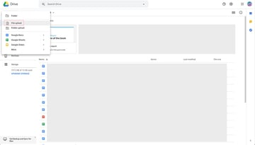 Login to Google Drive and upload your template