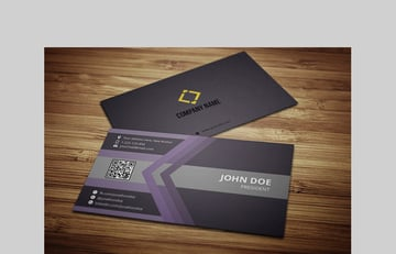 Professional Business Card With MS Word Doc