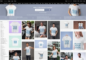 Navigate to Placeits T-Shirt Mockup Generator Page