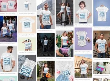 Select a Tee Shirt Mockup You Like