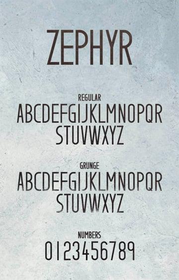 Zephyr Typeface