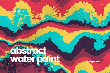 Abstract Water Paint Backgrounds for Digital Scrapbooking