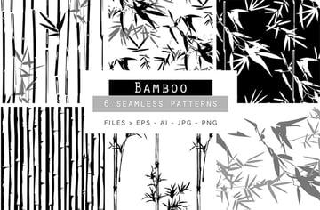 Bamboo Seamless Vector Patterns