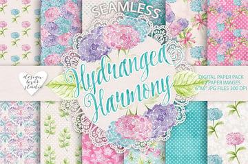 Hydrangea Digital Paper Pack