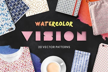 Watercolor Vision Vector Patterns for the Best Digital Scrapbook
