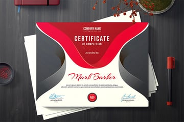 Just one of the many stunning certificate template designs offered at Envato Elements