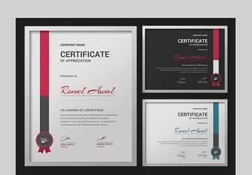 Modern Minimalist Certificate