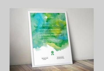 Watercolor Corporate Certificate Template