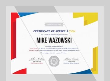 Modern Dynamic Diploma Award Certificate