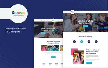 Gaowa - Kindergarten School PSD Template