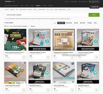 More Premium School Newsletter Templates From GraphicRiver