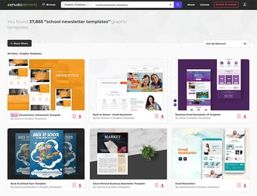 Unlimited Newsletter Templates from Envato Elements
