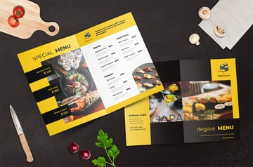 Just one of the terrific Restaurant menu templates available at Envato Elements