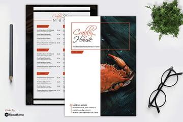 Crabby - Seafood Menu Template RY