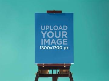 Poster Mockup at a Design Studio