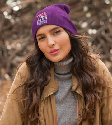 Just one of the premium beanie mockups available at Envato Elements