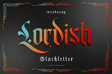 Lordish Gothic blackletter font
