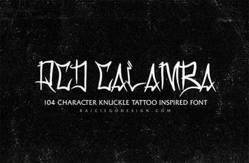 Tattoo lettering fonts