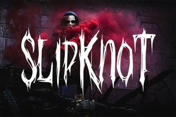 Black metal band font
