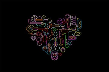 Musical Heart Art