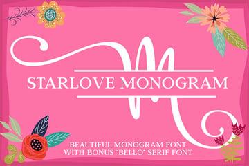 Starlove Curly Monogram Font