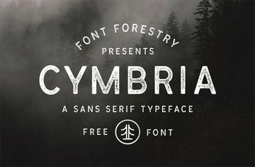 Cymbria retro vintage font