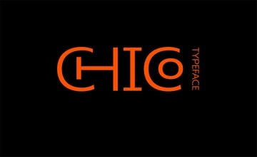 CHICO vintage font style