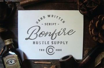 Bonfire vintage script font