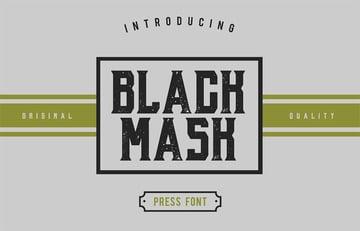 Black Mask vintage 90s font