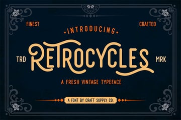 Retrocycles vintage sign fonts