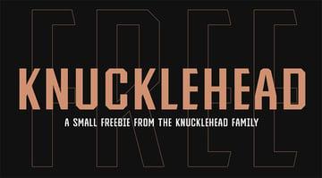 KNUCKLEHEAD - FREE VINTAGE FONT