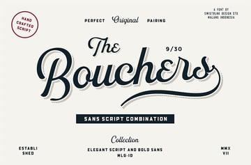 Bouchers Vintage Script Font
