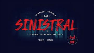 Sinistral  Hand-Written SVG Font - FREE Vector Version