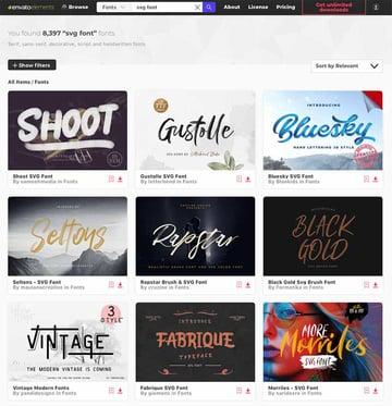 Premium SVG fonts