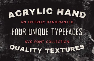 Acrylic SVG Font Collection