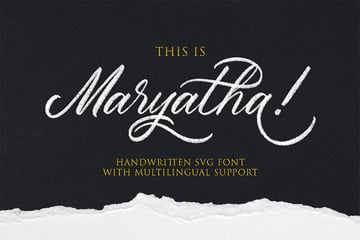 Maryatha SVG Calligraphy Font