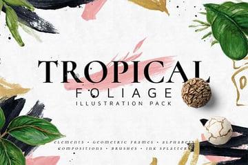 Tropical Foliage Affinity Designer Assets Pack