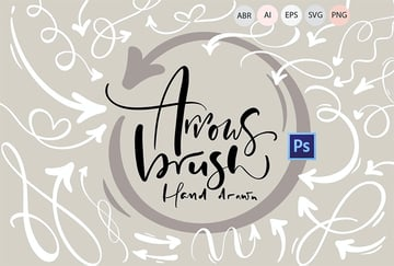 Hand Drawn Arrows Brushes for Affinity Designer and More