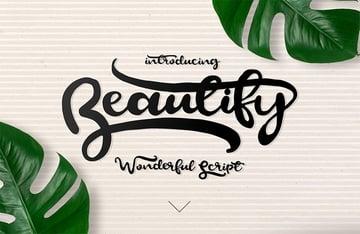 BEAUTIFY - Tattoo Script Font
