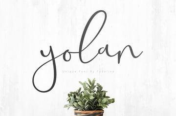 YOLAN Free Handwritting Font