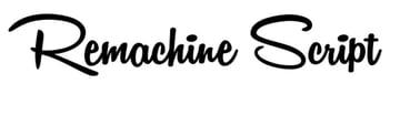 Remachine Tattoo Script Font