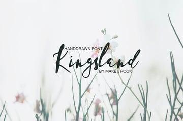 KINGSLAND - Handwritten Signature Font